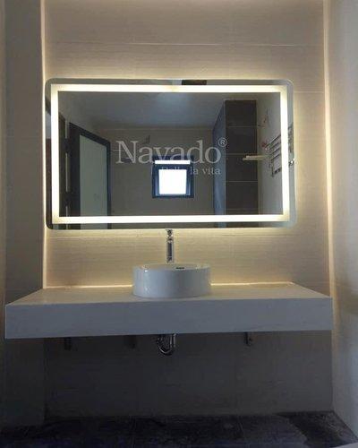 Gương Bỉ phòng tắm led trắng Navado