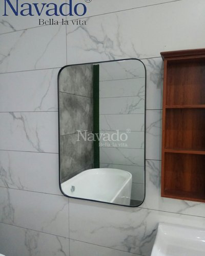 Gương phòng tắm khung bo đầu 60 x 90cm