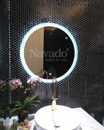 Gương phòng tắm tròn đèn led D60cm