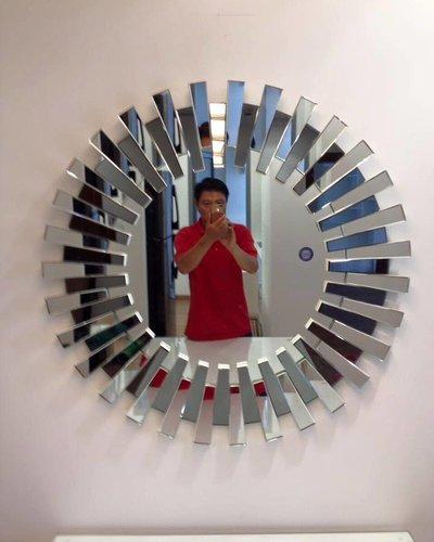 Gương bỉ decor phòng khách