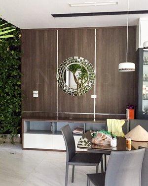 Gương nghệ thuật treo tường nội thất phòng khách