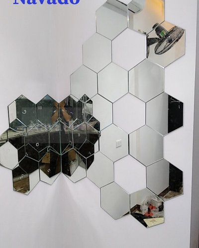 Gương ghép tường nghệ lục giác