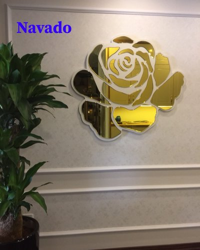 Gương trang trí phòng ngủ Rose gold