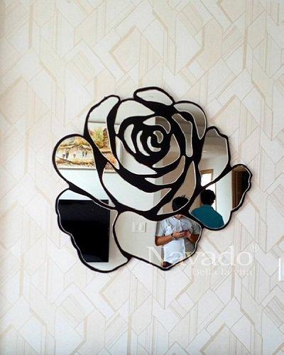 Gương nghệ thuật Rose white