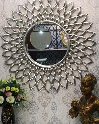 Gương tân cổ điển phòng khách Electra silver