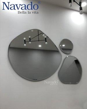 Gương ghép nghệ thuật 6 viền màu đen