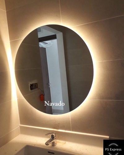 Gương đèn led phòng tắm D80cm