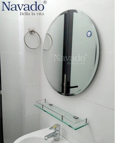 Gương nhà tắm mài vát cạnh D600mm