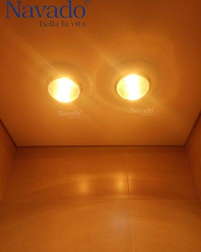 Đèn sưởi treo tường phòng tắm 2 bóng Navado