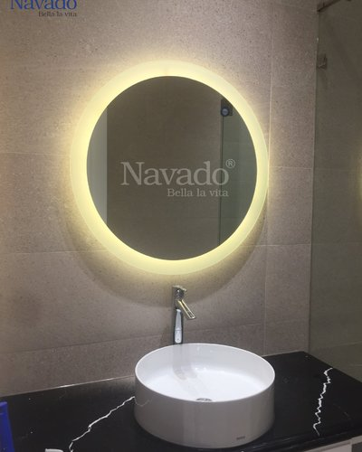 Gương nhà tắm đèn led 60cm