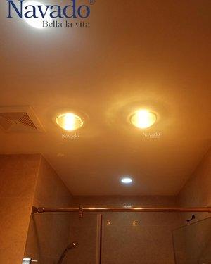 Đèn sưởi hồng ngoại âm trần 3 bóng phòng tắm Navado