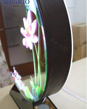 Gương đèn led 3D Lotus Pond