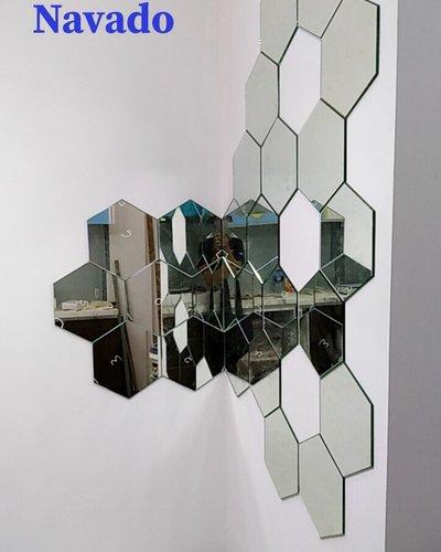Gương ghép ô dán tường nghệ thuật