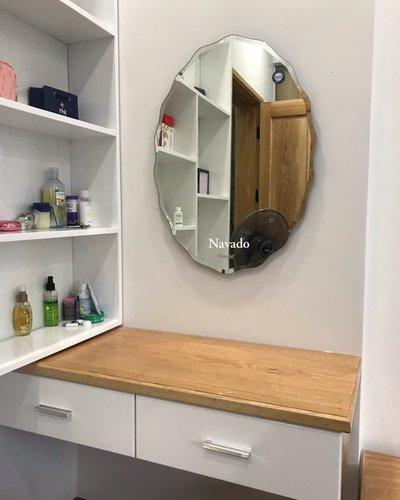 Bán gương trang điểm phòng ngủ elip 50 x 70cm