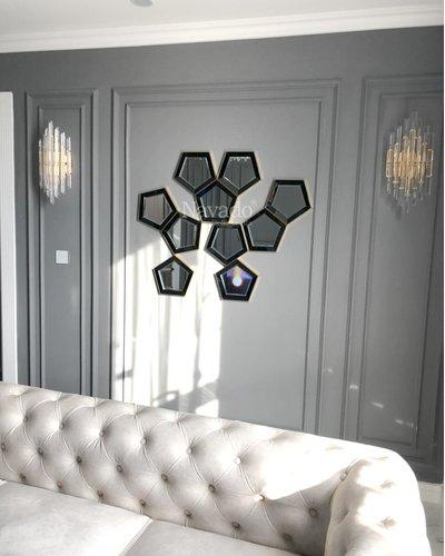 Gương trang trí nghệ thuật decor phòng khách luxury