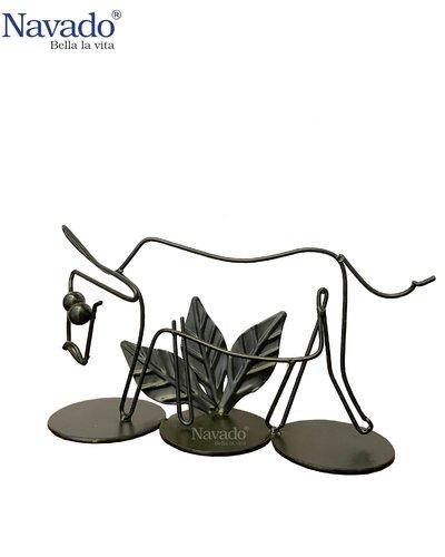Sản phẩm decor bằng thép trưng bày Buffalo
