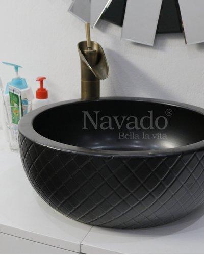Chậu men sứ lavabo nghệ thuật RS 102