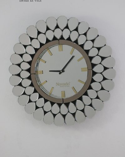 Đồng hồ nghệ thuật gương white peacock