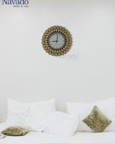 Đồng hồ nghệ thuật gương gold peacock