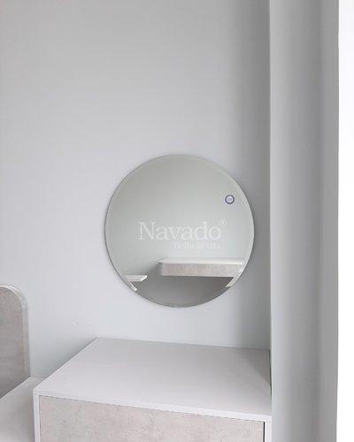 Gương tròn bàn phấn mài vát phi 60cm