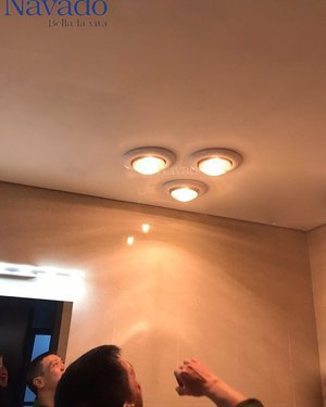 Đèn sưởi nhà tắm âm trần3 bóng Navado