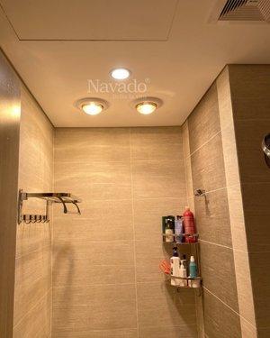 Đèn sưởi phòng tắm âm trần 2 bóng Nav-6012