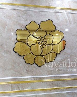Gương trang trí hoa hồng Rose gold