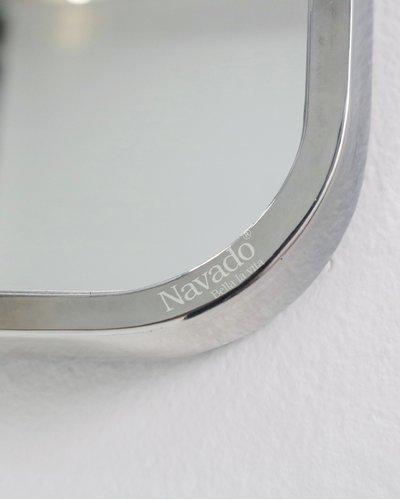 Gương decor treo tường viền inox